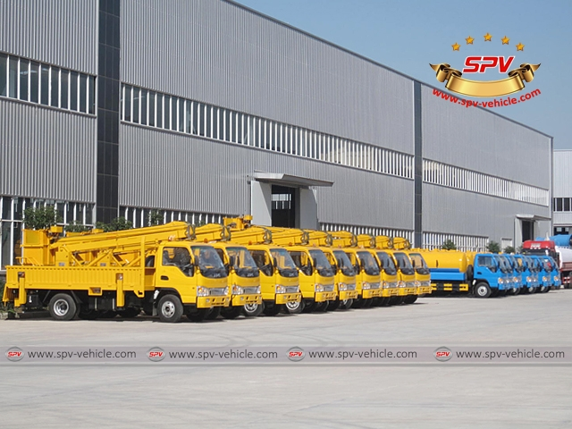 9 Units of Aerial Platfom Trucks are ready for shipment