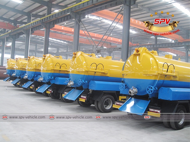 7 units of Stainless Steel Sewage Vacuum Cleaners  (4,000 liters) are in the workshop