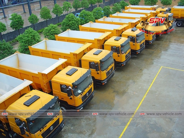 15 units of dump trucks, tippers, tipper trucks shipped to Congo from China in 2007