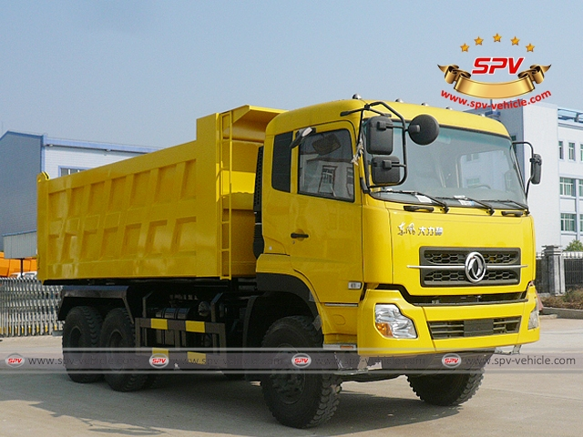 Front Right View of Dump Truck Dongfeng (6X4) to Algeria
