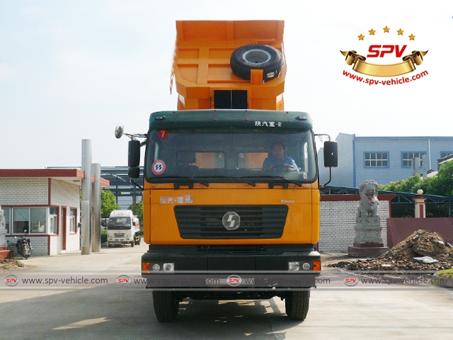 Front View of Dump Truck Shacman (U-shape dumper) to Congo