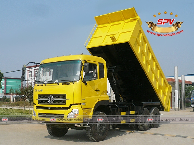 Front Left View of Dump Truck Dongfeng (6X4) heading to Algeria