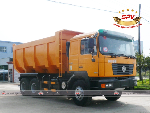 Front Right View of Dump Truck Shacman (U-shape dumper) to Congo
