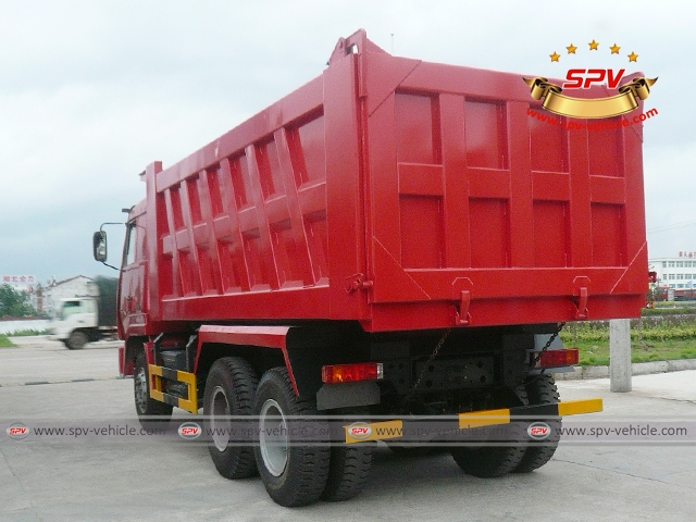 Rear Left View of Dump Truck Sinotruk (6X4) to Nigeria