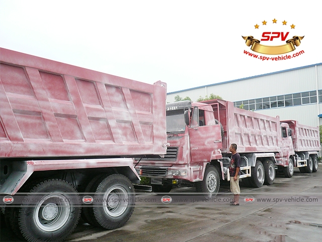 Dump Trucks Sinotruk (6X4) are waxed