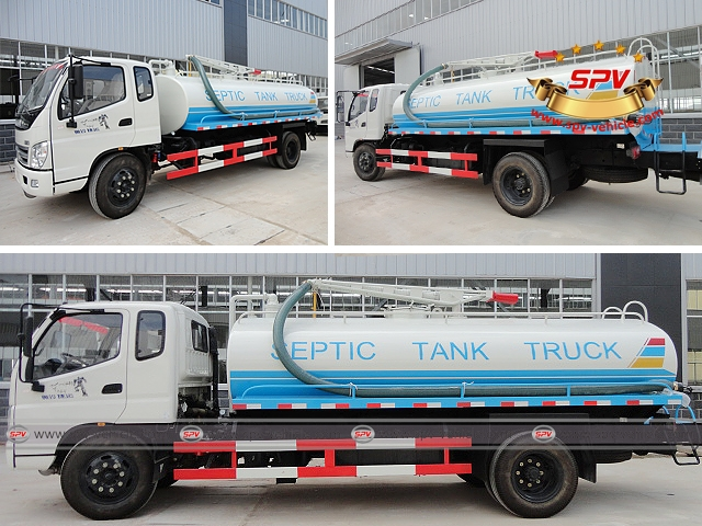 Liquid waste disposal truck Foton (10,000 Liters), also called as septic tank truck