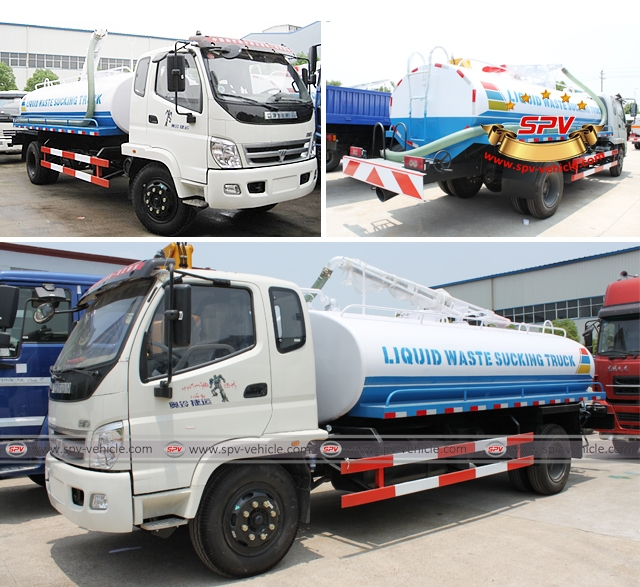Liquid waste sucking truck Foton (10,000 Liters), also called as septic tank truck