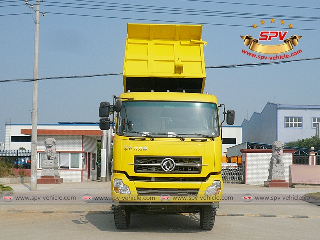 Front View of Dump Truck Dongfeng (6X4) to Algeria