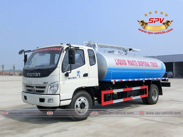 One more  liquid waste disposal truck Foton (10,000 liters) shipping to Ethiopia
