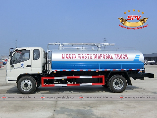 One more liquid waste disposal truck Foton (10,000 liters) shipping to Ethiopia 1c