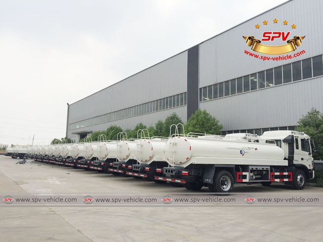 4th shipment of 100 units of JAC water bowsers to Venezuela