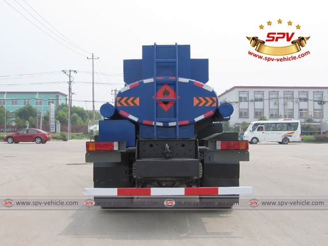 Back view of 4X4 Fuel Tank Truck