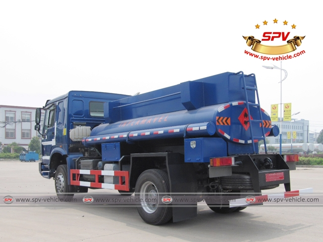 Left back side view of 4X4 Fuel Tank Truck