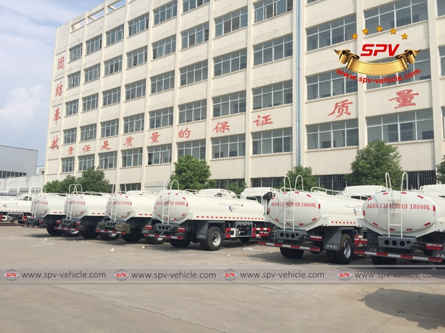 5th shipment of 50 units of JAC Water Bowsers to Venezuela -1