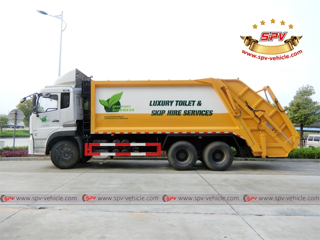 20,000 Litres compactor garbage truck-side view