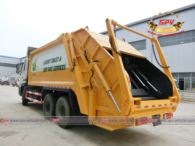 20,000 Litres garbage compactor left back view