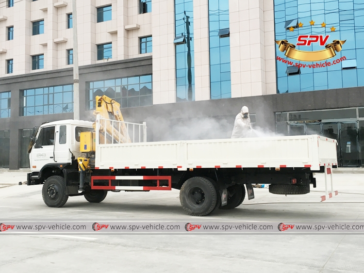 Ton Self loader truck Dongfeng - Waxing