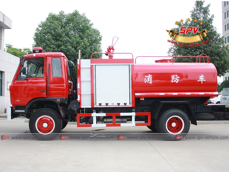 6,000 Litres Fire Water Tank Truck Dongfeng-LS