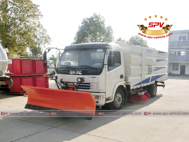 Road Sweeper with Snowplow Dongfeng-LF