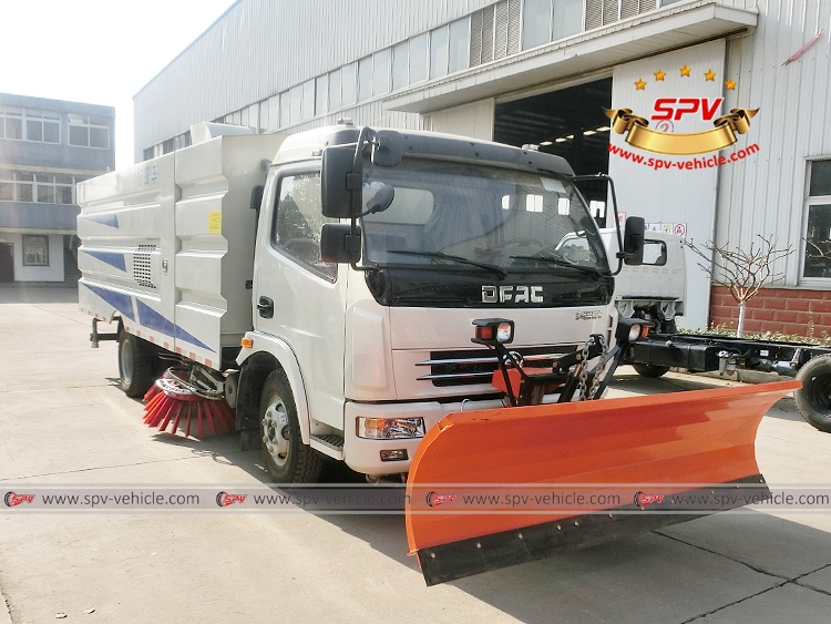 Road Sweeper with Snowplow Dongfeng-RF