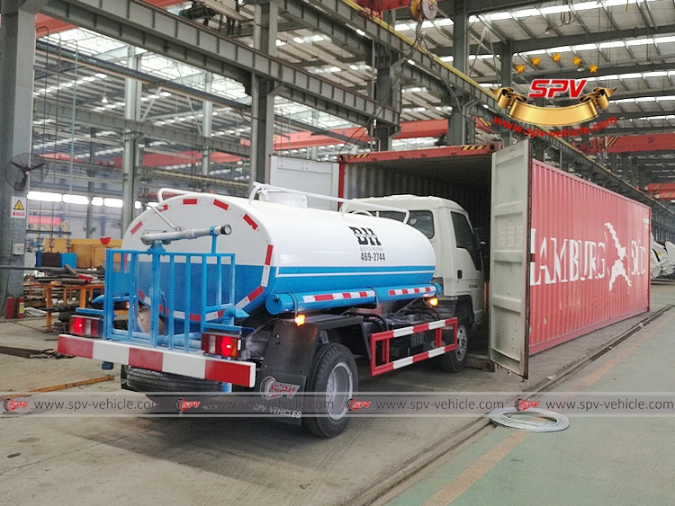 To Saint Kitts and Nevis - Water Truck Loading