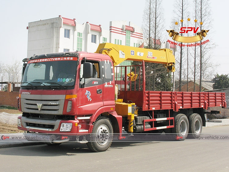 Telescopic Hydraulic Loader FOTON - Red Color