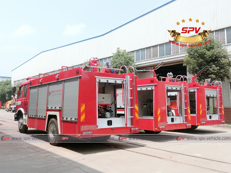 3 units of Dongfeng fire fighting truck - LB