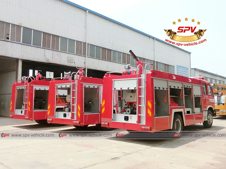 3 units of Dongfeng fire fighting truck - RB