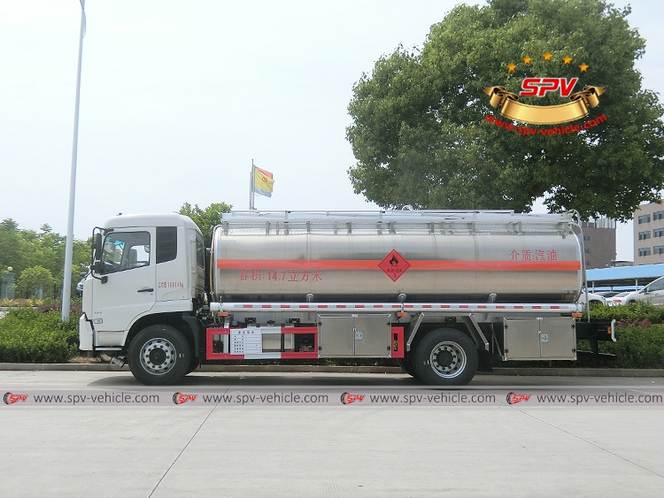 15,000 Litres Stainless Steel Fuel Bowser - Dongfeng - LS