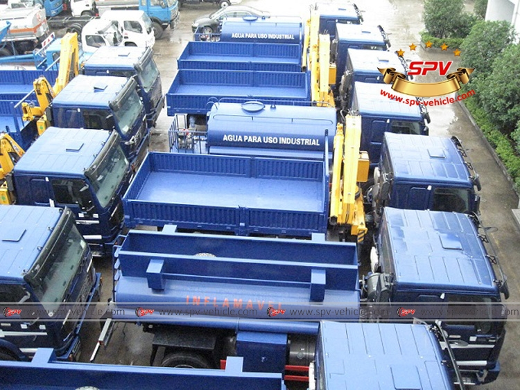 4X4 cranes,tankers to Mozambique - 14 units