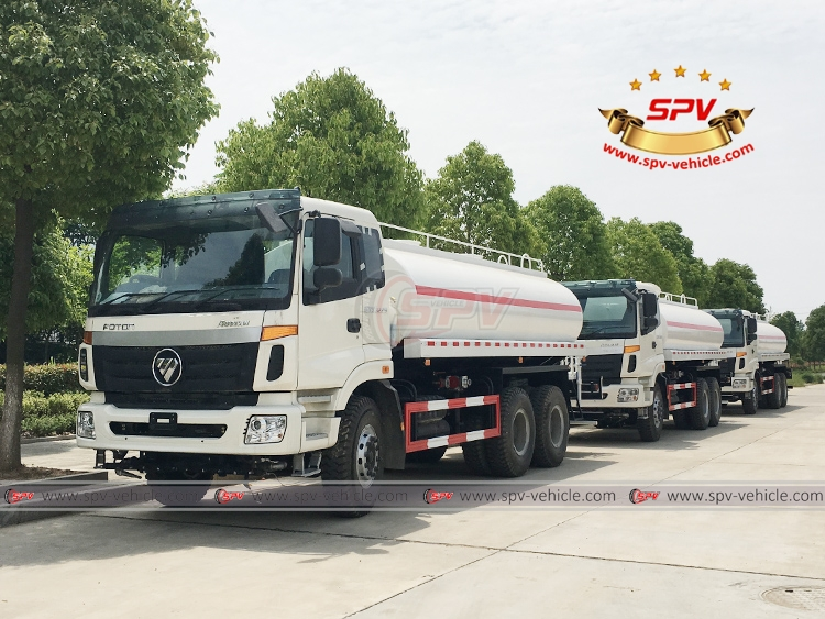 To Uganda - 3 units of Water Spraying Truck FOTON - LF