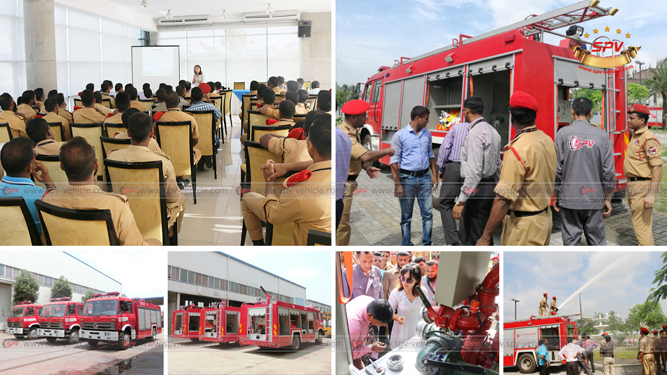 On-site Traning in Bangladesh for 3 units of Fire Truck