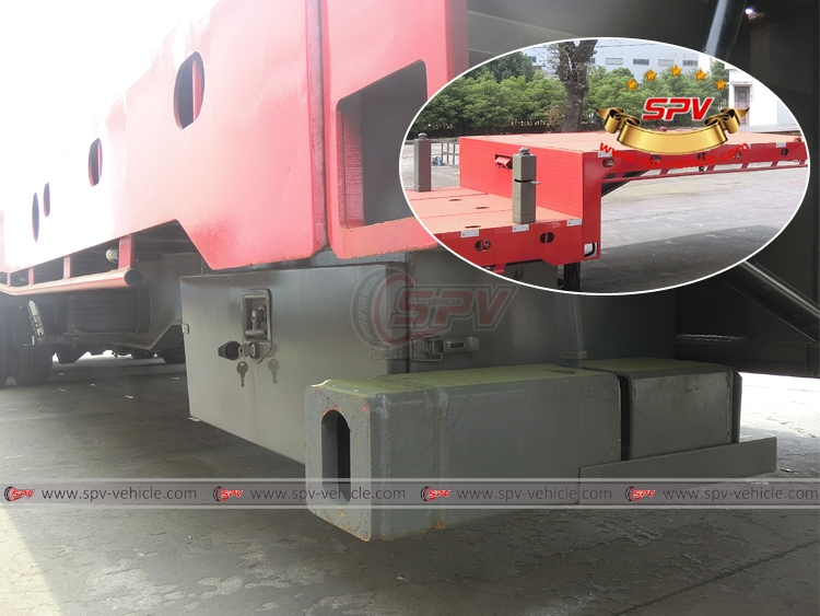 Extendable Flatbed Semi-trialer - Extra Outrigger