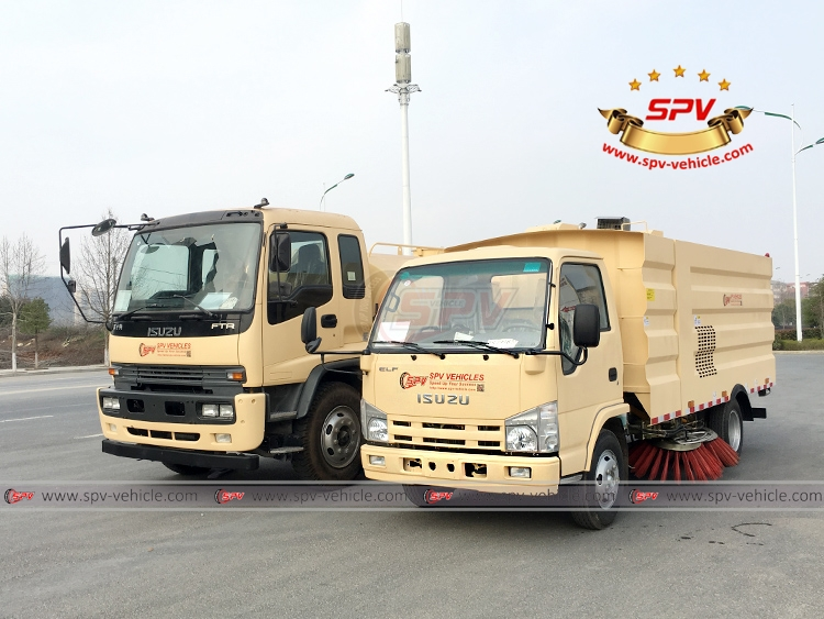 Sweeping Truck and Water Truck ISUZU - LF