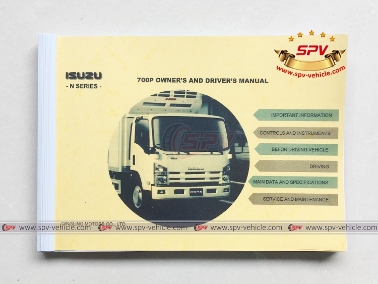 Rubbish Truck ISUZU - Manual for chassis