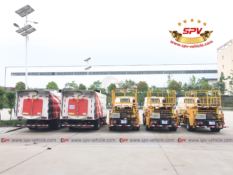 Lift Platform Truck ISUZU and Road Sweeper Truck - B