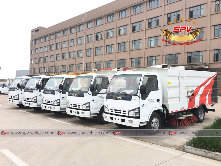 Lift Platform Truck ISUZU and Road Sweeper Truck - LF