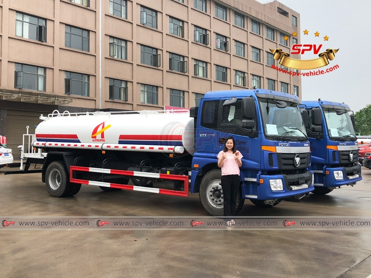 Water Tank Lorry FOTON - 10,000 litres - RF