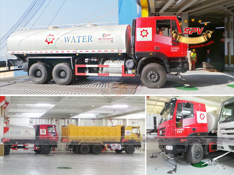 Water Spraying Truck IVECO - Loading into RORO Vessel