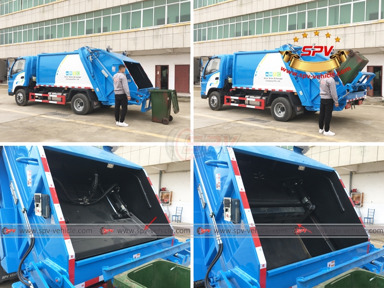 Garbage Compactor Truck FOTON - Dustbin Lifting