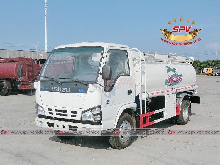 SPV ships one unit of fuel tank truck ISUZU(4,000 Litres) to Saint Kitts and Nevis in July, 2017.
