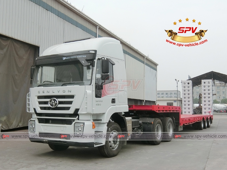 To Malawi, SPV is shipping 1 unit of extendable flatbed semitrailer with tractor head in Oct, 2017.