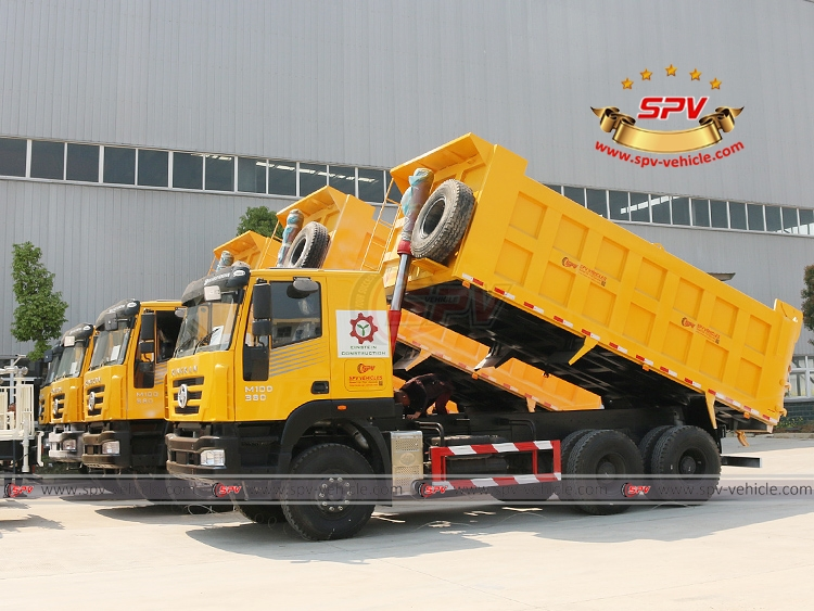 SPV is shipping 4 units of dump trucks IVECO to Malawi in April, 2017.