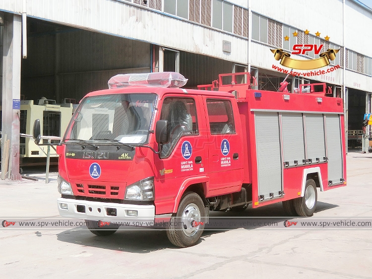 Philippines light rail corporation's order of fire truck ISUZU was finieshed by SPV in Decmber, 2017