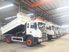 To Cuba - 11 units of 10m3 dumpers were ready for shipment in Sep.,2015