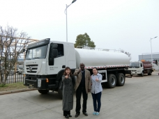 To Sierra Leone -  Water Bowser IVECO China (20,000 liters) Shipped in Mar., 2016