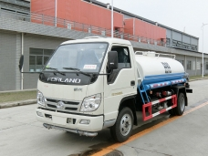 To Saint Kitts and Nevis - Forland water sprinkler truck (4,000 litres) in May, 2016.