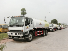 To Mongolia - 5 units of Water Tank Truck ISUZU in Oct, 2016.