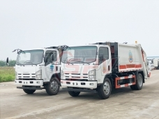 To Cape Verde - 2 units of garbage compactor truck ISUZU(8 CBM) in May, 2018