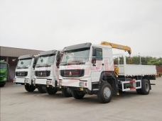 To Vietnam - 3 units of off-road Cargo Truck with Crane SINTOTRUK HOWO in Jul., 2018